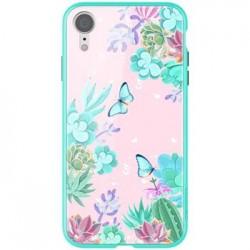 Nillkin Floral Hard Case Green pro iPhone XR