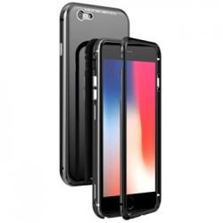 Luphie Magneto Hard Case Glass +Tvrzené Sklo Black pro iPhone 6/6S