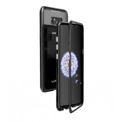Luphie Magneto Hard Case Glass +Tvrzené Sklo Black pro Samsung G950 Galaxy S8