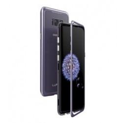 Luphie Magneto Hard Case Glass +Tvrzené Sklo Purple pro Samsung G950 Galaxy S8