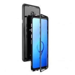 Luphie Magneto Hard Case Glass +Tvrzené Sklo Black pro Samsung G960 Galaxy S9