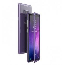 Luphie Magneto Hard Case Glass +Tvrzené Sklo Purple pro Samsung N960 Galaxy Note 9