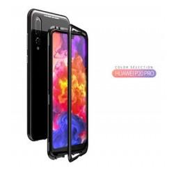 Luphie Magneto Hard Case Glass +Tvrzené Sklo Black pro Huawei P20 Pro