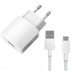 HW-050200E01W Huawei USB Cestovní Dobíječ + microUSB Dat. Kabel White (Bulk)