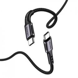 USAMS SJ290 Datový Kabel Type C / Type C Black (EU Blister)