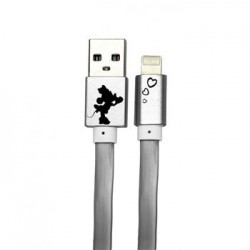 Disney Minnie Lightning Datový Kabel Heart Silver (EU Blister)