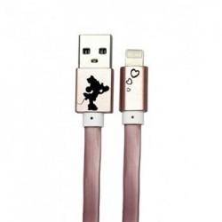 Disney Minnie Lightning Datový Kabel Heart Rose Gold (EU Blister)