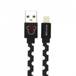 Disney Minnie Lightning Datový Kabel Dots Black (EU Blister)