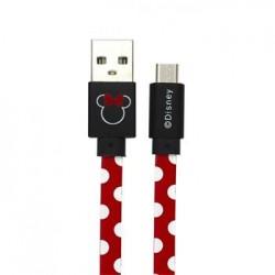 Disney Minnie microUSB Datový Kabel Dots Red (EU Blister)