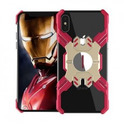 Luphie Heroes Rotation Aluminium Bumper Case Red/Gold pro iPhone X/XS