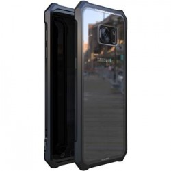 Luphie King of Snaps Magnetic Aluminium Bumper Case Glass Black pro Samsung Galaxy S7