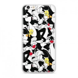 Warner Bros Sylvester and Tweety 004 Zadní Kryt Black pro iPhone 7/8