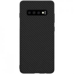 Nillkin Synthetic Fiber Ochranný Zadní Kryt Carbon Black pro Samsung G975 Galaxy S10+
