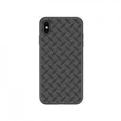 Nillkin Synthetic Fiber Ochranný Zadní Kryt Plaid Black pro iPhone XS Max
