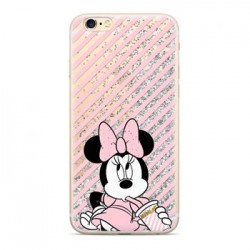 Disney Minnie 017 Glitter Back Cover Silver pro iPhone X