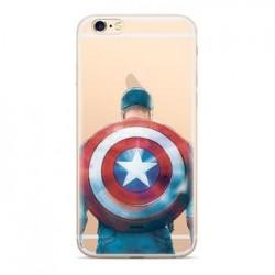 MARVEL Captain America 002 Zadní Kryt pro Samsung J610 Galaxy J6+ Transparent