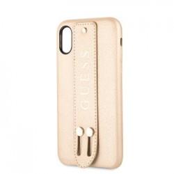GUHCPXSBSBE Guess Saffiano Strap Pouzdro pro iPhone X/XS Beige