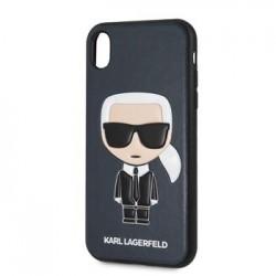 KLHCI61IKPUBL Karl Lagerfeld Ikonik Full Body Kryt pro iPhone XR Blue