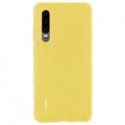 Huawei Original Silicone Car Pouzdro Yellow pro Huawei P30 (EU Blister)