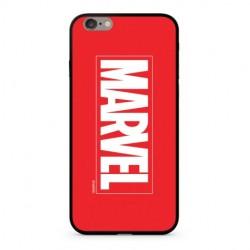 MARVEL 005 Premium Glass Zadní Kryt pro iPhone XS Red