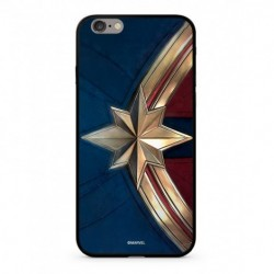 MARVEL Captain Marvel 022 Premium Glass Kryt pro iPhone XS Blue