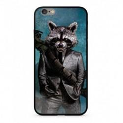 Guardians of The Galaxy Rocket 009 Premium Glass Kryt pro iPhone 6/6S Plus Blue