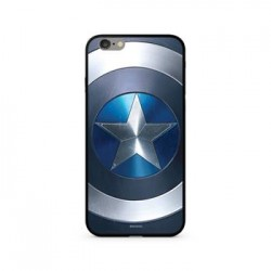 MARVEL Captain America 027 Premium Glass Zadní Kryt pro iPhone X Blue