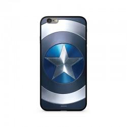 MARVEL Captain America 027 Premium Glass Zadní Kryt pro iPhone XR Blue