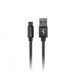 FETCNYUDG Ferrari Nylon MicroUSB Datový Kabel Dark Grey (EU Blister)