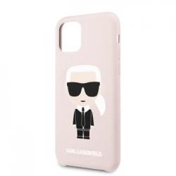 KLHCN65SLFKPI Karl Lagerfeld Silikonový Kryt pro iPhone 11 Pro Pink (EU Blister)