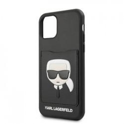 KLHCN61CSKCBK Karl Lagerfeld CardSlot Kryt pro iPhone 11R Black (EU Blister)