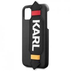 KLHCN61HDAWBK Karl Lagerfeld Strap Kryt pro iPhone 11R Black (EU Blister)