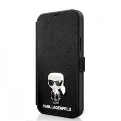 KLFLBKP12SIKMSBK Karl Lagerfeld Saffiano Iconic Book Pouzdro pro iPhone 12 mini 5.4 Black